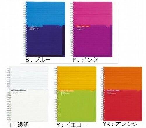Kokuyo COLOR TAG Bi-Color Twin ring notebook B5 90shhets Japan