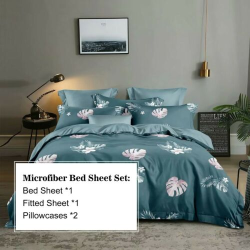 DCP Bed Sheet Set Collection-4 Pcs Brushed Microfiber Bedding Sheet,Twin