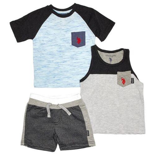 Sz 4T US Polo Assn Toddler Boys 3 Piece Shorts Set