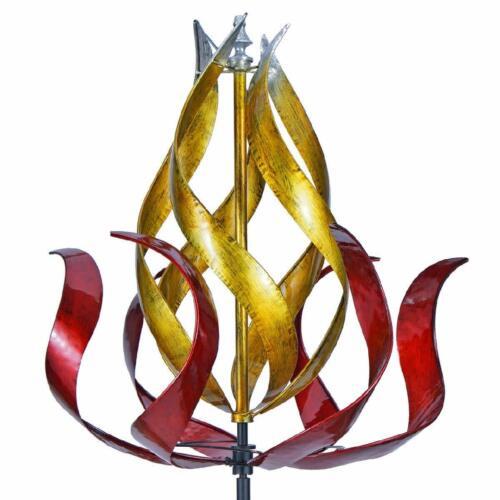 Fire Torch Wind Spinner 28 Inch Multicolor 3D Kinetic Garden windmill catcher