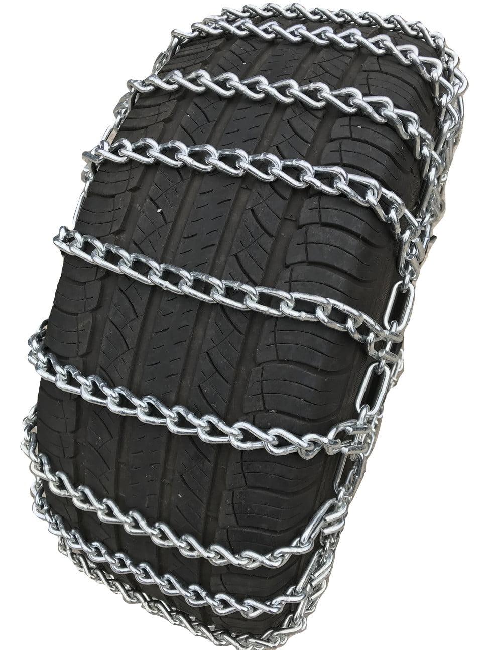 2 Chains - Tire Size 25x8x12 Front Snow Chains 2002-2004 Polaris 700 Sportsman