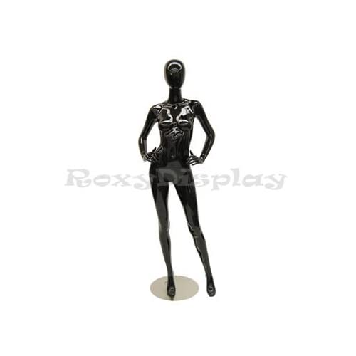 ROXY DISPLAY Highend Female mannequin Egg Head with Arms on the waist and legs open. MD-A4BK1-S