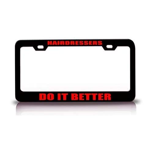 Cool Aluminum Metal License Plate Cover Frame Premium Quality Novelty//License Plate Frame Black for US Car//Motorcycle