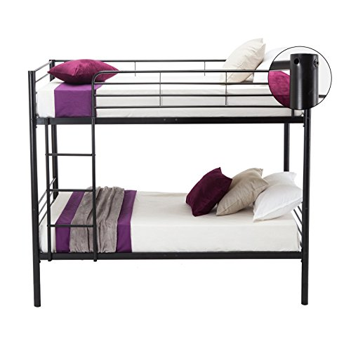 Leadzm Twin Over Twin Metal Bunk Bed With Metal Frame And Ladder For Kids Bedroom Box Spring Replacement Buy Products Online With Ubuy Bahrain In Affordable Prices B078mfcxkq