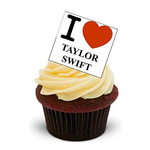 Edible Taylor Swift Icing Cake Topper Cupcake Wafer