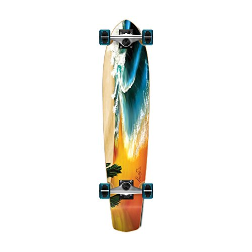 Yocaher SlimKick Tail Beach Series Longboard Complete Skateboard Cruise Vintage Style 36 x 8