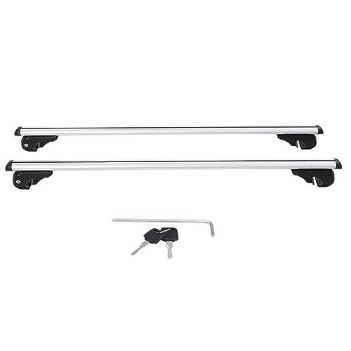 Aluminium Car Roof Bars 130 cm Load 100 kg with Keys Anti-Theft