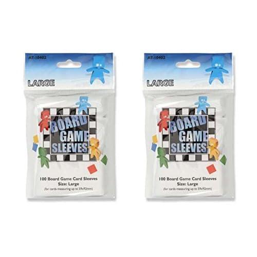 Bundle of 2 Arcane Tinmen Medium Board Game Card Sleeves 57mm x 89mm 200 Sleeves Total