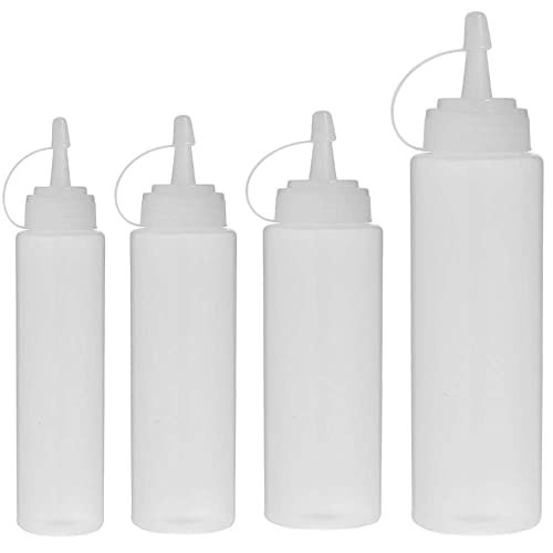 Ketchup Perfect for Condiments Arts and Crafts Oil 18 Chalk Labels and Multi Purpose Squeeze Bottles Set of 16 with extra 6 Red Cap 1 Silicone Funnel Belinlen 16 Pack 4 oz Plastic Small Squeeze Condiment Bottles with Red Tip Caps Sauces Icing