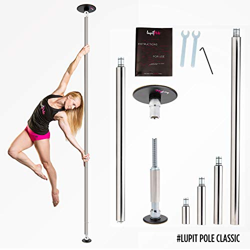 Anti-Slippery Surface Portable Fitness Pole Dancing Safety Mat 3.14in Pink Round LUPIT POLE Pole Dance Crash Mat Premium Model 8cm