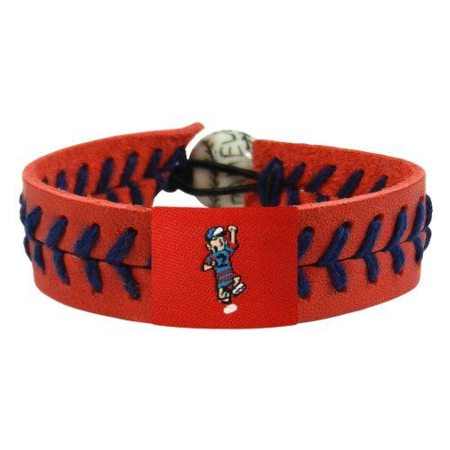 GameWear Houston Astros Bracelet Team Color Baseball Red Leather Sand Thread