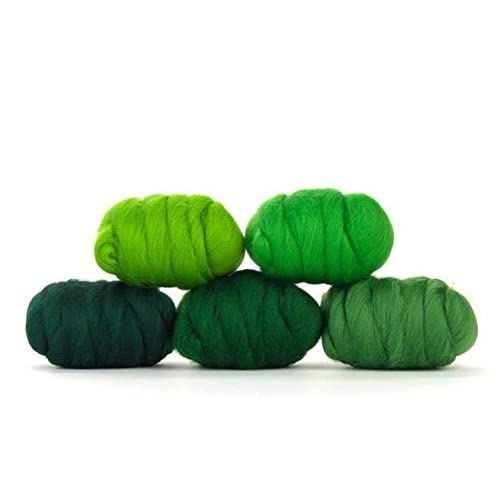 Hand Spinning Paradise Fibers Mixed Merino Wool Bag Wet Felting Merino Wool Fiber Lot Perfect for Needle Felting and Blending Yummy Yellow