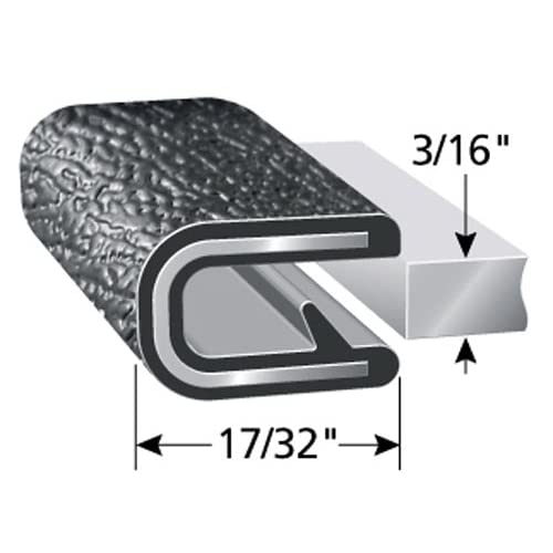 """Boats 100/&rsq 9//16/"""" Leg Length Easy Install Dual Gripping Fingers and More PVC Plastic Edge Protector for Sharp and Rough Surfaces Fits 1//16/"""" Edge Machinery Push-On Edge Guard for Cars Flexible Trim-Lok Edge Trim"""