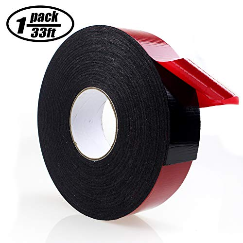 1 Roll 1 inch x 33 feet Double-Sided Adhesive Tape Outdoor Indoor Super Strong Foam Seal Strip Green for Automotive Car Mounting Weatherproof Decorative Photo Frame Home Office Decor