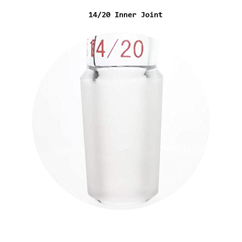 Glass Enlarging Adapter Connecting with 19//22 Standard Taper Outer Joint to 14//20 Lower Inner Joint