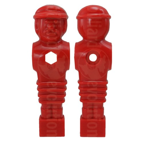26 Red and Blue Tournament Style Foosball Men with Free Screws /& Nuts in Billiard Evolution Drawstring Bag