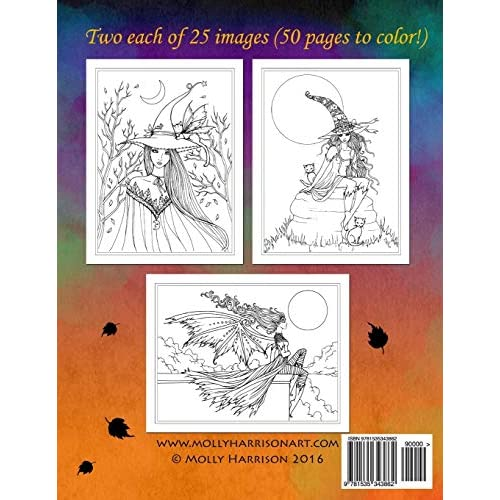 Buy Autumn Fantasy Coloring Book Halloween Witches Vampires And Autumn Fairies Coloring Book For Grownups And All Ages Paperback July 17 2016 Online In Bahrain 1535343869