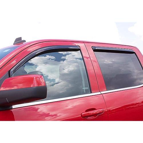 4-Piece Set for 2013-2016 Mazda CX-5 Auto Ventshade 94364 Original Ventvisor Side Window Deflector Dark Smoke