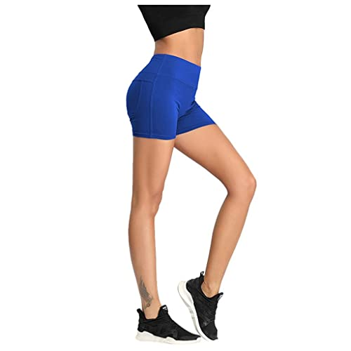 """XS-3X Brand Core 10 Womens All Day Comfort High Waist Yoga Short with Side Pockets 5/"""""""