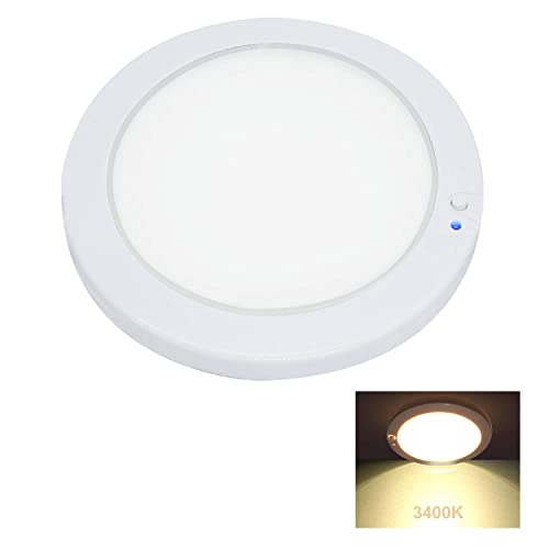RV Trailer Boat Interior Roof Dome Lights Under Cabinet Lighting Fixture- 3.5inches Dream Lighting 12V 1.8W LED Ceiling Downlight Pack of 10 Dimmable Warm White