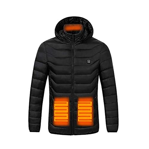 ZJHT Heated Jacket for Men and Women,Heated Hoodie with 7.4V Battery and Detachable Hood