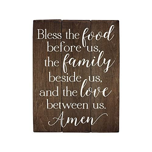 Buy Elegant Signs Bless The Food Before Us Sign Wood Sign Kitchen Wall Decor Wood Kitchen Sign 13 X 20 Inch Online In Bahrain B07dysdm17