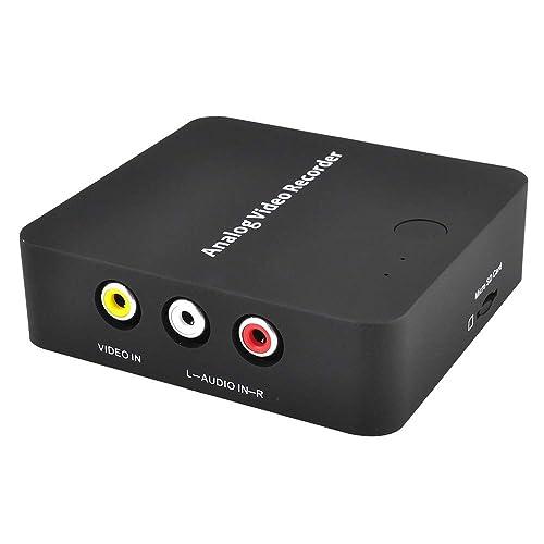 Vhs To Digital Video Converter For Camcorder Tape Hi8 Vcrs Dvr Cd Dvd Cassette Games Analog