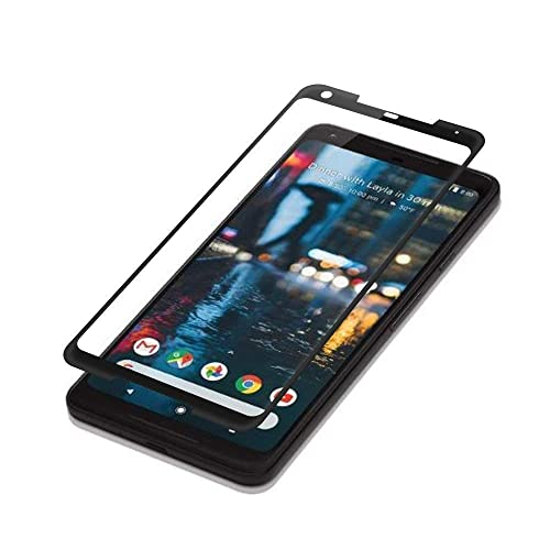 Case Friendly Black HD - Clear Tempered Glass Screen Protector Compatible with Google Pixel 2 XL 2PACK Google Pixel 2 XL Screen Protector Easy to Install