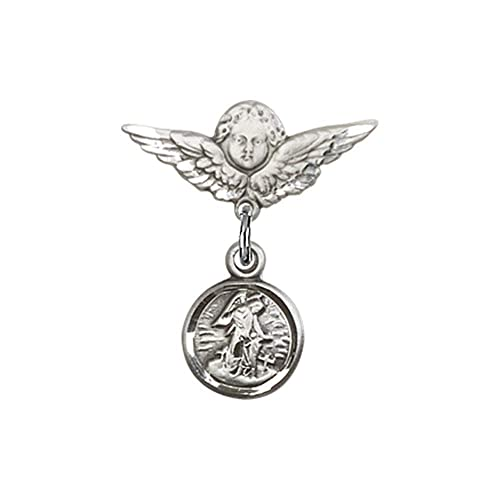 TONYS JEWELRY CO Sterling Silver Guardian Angel Pendant