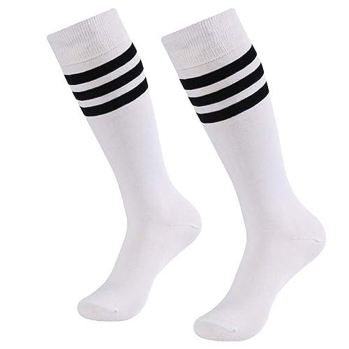 SUTTOS Unisex Knee High Solid Sport Football Socks 2-10 Pairs Long Tube Soccer Socks