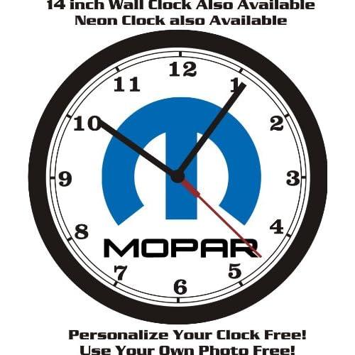 Buy Mopar Logo Wall Clock Dodge Plymouth Chrysler Free Usa Ship Online In Bahrain B00g6p4l1m
