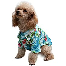 a6f975266af9 EXPAWLORER Hawaiian Pet Dog Polo T Shirts Cute for Small to Medium Puppy  Cats Cool Summer