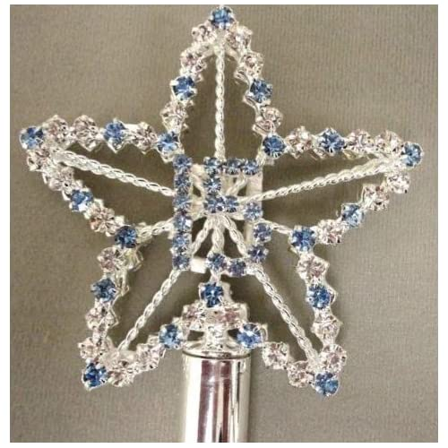 Apple Blue 18 Rhinestone Crystals Scepter Wand Sweet 15 Quince Quinceanera Clear Pink Blue