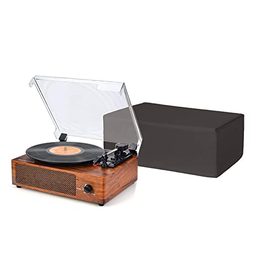 Grey SL-1210 /& Pioneer PLX-1000,Anti-Static Gramophone Sleeve 18L x 14W x 7H Inch CYFC556 Cheng Yi Turntable Dust Cover,Waterproof Cloth Record Player Protector for SL-1200