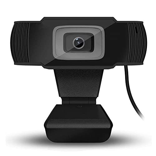 USB Web Camera Built-in Mic Webcam with Microphone,1080P HD Webcam Desktop or Laptop Flexible Rotatable Clip and Tripod/… Streaming Webcam for Computer Widescreen Video Calling and Recording
