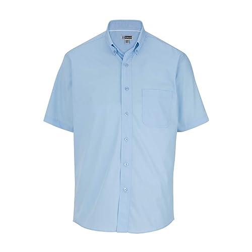 Edwards Garment Mens Casual Wrinkle Resistant Short Sleeve Poplin Shirt