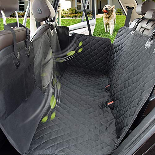 PAWBEE Dog Car Seat Covers Truck Nonslip Scratchproof Dog Car Seat Cover SUV Car Pet Hammock with Front Mesh Window Waterproof Back Seat Cover for Pets Heavy-Duty Car Seat Covers for Dogs