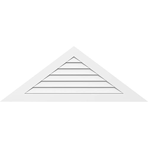 66W x 13.75H Factory Primed White Ekena Millwork GVPTR66X1401SF Triangle Surface Mount PVC Gable Vent