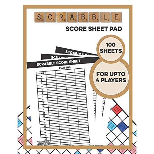 Buy Scrabble Score Sheet Pad 100 Sheets For Upto 4 Players 100 Score Sheets 1 Player Scoreboard Paperback September 25 2019 Online In Bahrain 1695602560