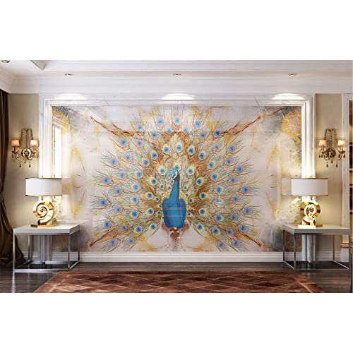 Buy Aj Wallpaper 3d Peacock Wg108 Wall Paper Print Decal Deco Wall Mural Self Adhesive Wallpaper Us Dai Vinyl No Glue Removable 164 X100 416x254cmwxh Online In Bahrain B07zg882ms
