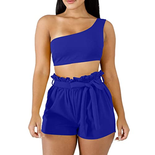 ANRABESS Women Summer Loose Solid Sleeveless Jumpsuit Rompers Spaghetti Strap Adjustable Waist Short Pant Rompers/…