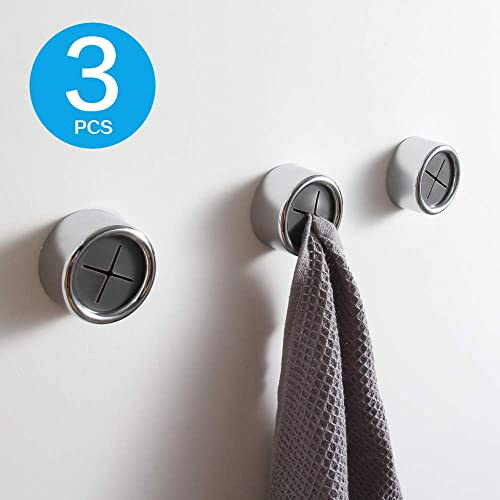 Kaiying Kitchen Towel Hooks Round Self Adhesive Dish Towel Holder Wall Mount Hand Towel Hook Tea Towel Rack Hanger For Cabinet Door Chrome Plated 3 Pack Buy Products Online With Ubuy Bahrain