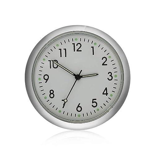 White Eadorns Car Clock,Car Ornament Automotive Accessories Auto Stick-on Watch,for Car Home Interior Decoration