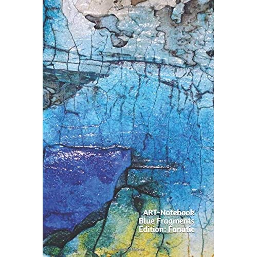 Art Notebook Blue Fragments Edition Fanatic The Place For Your Ideas Inspirations And Notes Size L