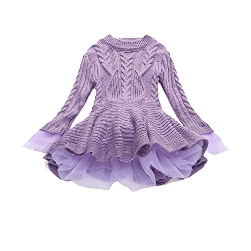WEONEDREAM Girl Winter Long Sweater Dress