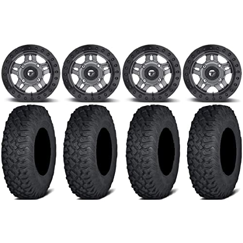 Bundle 4x156 Bolt Pattern 3//8x24 Lug Kit Fuel Anza Beadlock Gm 15 Wheels 32 Coyote Tires 9 Items