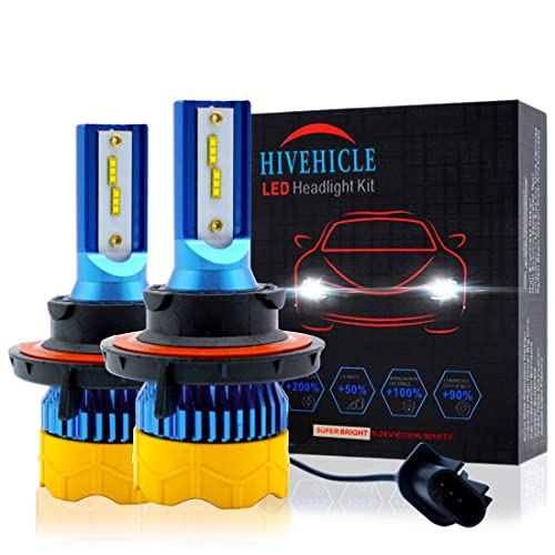 HIVEHICLE Led Headlight Bulbs H7 Mini Size All In One Conversion Kit,Upgraded 3570 New Flip Chips High LM//Super Focused Beam//Extremely and Continued Bright,6K Cool White,2 Year Warranty