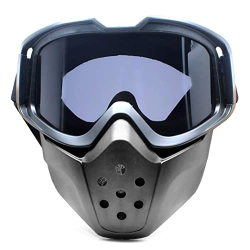 DAWEIF Safety Face Shield Motorcycle Helmet Riding Goggles Glasses Anti Dust Mouth Filter Breathable Eye Protection