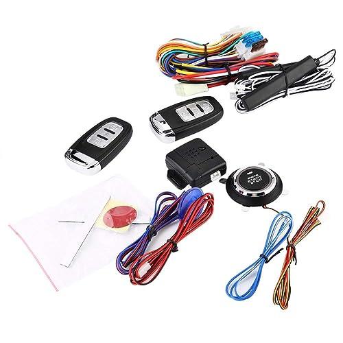 Car Ignition Button Starter Security System Kit Sound/&Light Alarm Remote Control
