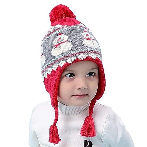 Magracy Toddler Kids Winter Hats Warm Earflap Beanie Hat Boys Girls Knit Hat